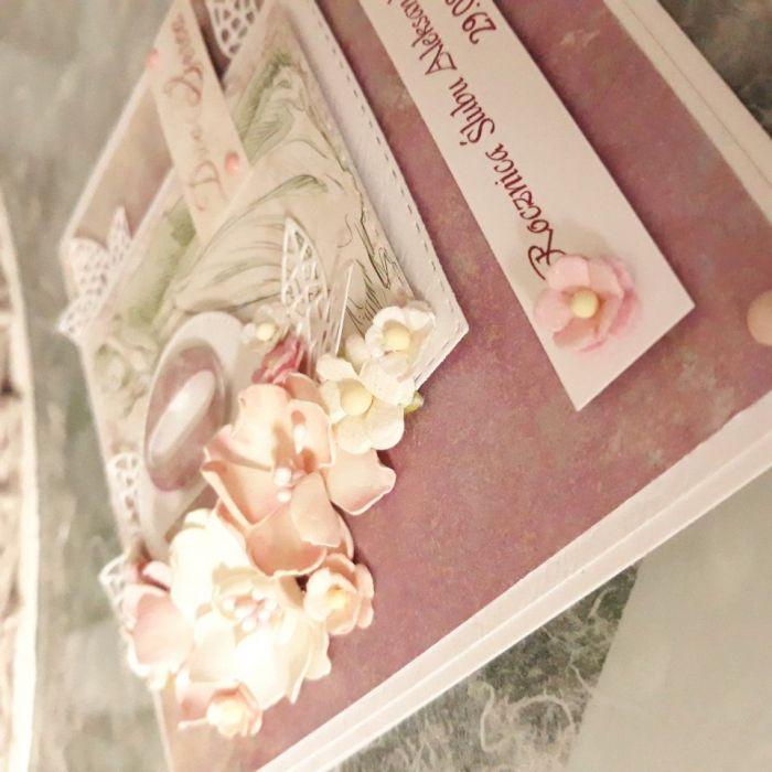 Kartka ślubna lilia