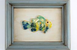 Obraz z rybą ceramiczną