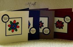 Kolorowe Święta...Komplet 4 kartek