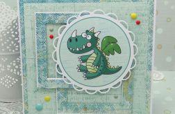 Kartka z dinozaurem -  urodzinowa