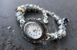 Bransoletka z zegarkiem Silver