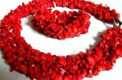 Czerwony koral, imponujący zestaw biżuterii