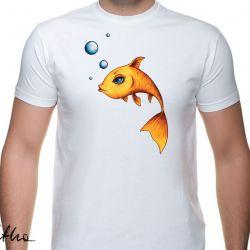 Złota rybka - t-shirt męski - kolory