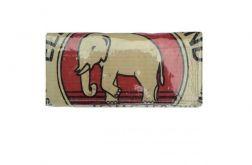 Eko Portfel damski z worka po cemencie (z logiem z czerwonym słoniem) - handmade w Kambodży