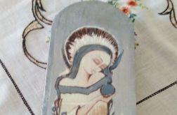 Anioł zamyślony w odcieniach szarych - deska