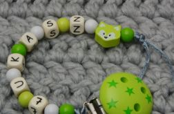 Łańcuszek zawieszka do smoczka z imieniem #27