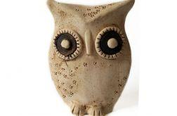 Ceramiczna leśna sowa 04