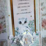 Kartka DL na Dzień Nauczyciela z sową GOTOWA -