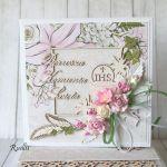 Pamiątka Komunii Świętej- w liliach
