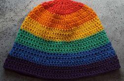Letni bawełniany kapelusz tęczowy