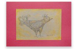 Ptaszek 14- rysunek dekoracyjny do domu