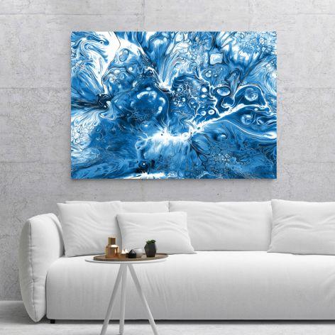 Plakat abstrakcja niebieska 50X70 B2