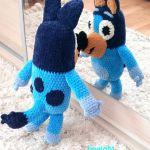 Bluey z bajki Blue maskotka szydełkowa plusz - Bluey maskotka