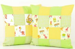 Poduszki komplet dekoracyjny patchwork 2 szt.