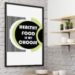 Plakat Healthy food... -