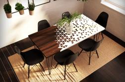 Stół jadalny z nowoczesnym wzorem, loftowy