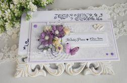Ślubna kartka DL w pudełku z okienkiem 21
