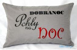 Poduszka haftowana 40/60 DOBRANOC pchły na noc