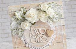 Ślubny komplet - deseczki i róże