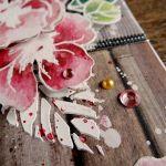 W dniu urodzin - kartka z kwiatami - Detal2