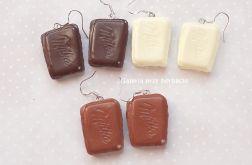 Kolczyki czekoladki modelina fimo