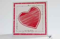 Walentynka z haftowanym sercem