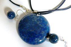 Lapis lazuli, zestaw biżuterii, srebro