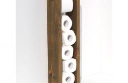Stojak na papier toaletowy z drewna CLER