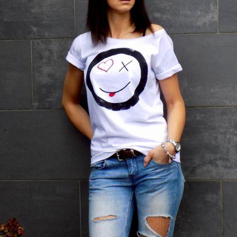 """t-shirt luźny """"HAPPY"""""""