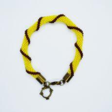 Żółta w paski