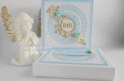Pamiątka komunijna IHS w pudełku 03