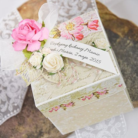 Eksplodujące pudełko na ślub / podxiękowania dla rodziców