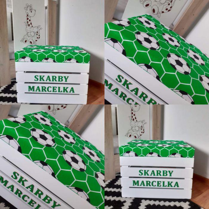 Skrzynia pudełko na zabawki PIŁKA - Skrzynia pudełko dla małego piłkarza loo loo dream