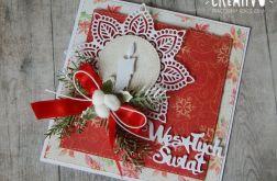 Kartka świąteczna ze świeczką nr 2