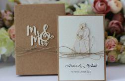 Rustykalna kartka ślubna z personalizacją 4