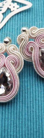 Kryształowe Ecru & Pudrowy Róż