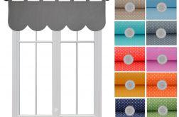 lambrekin z ozdobnymi łukami różne kolory