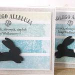 Szybki królik - kartka wielkanocna