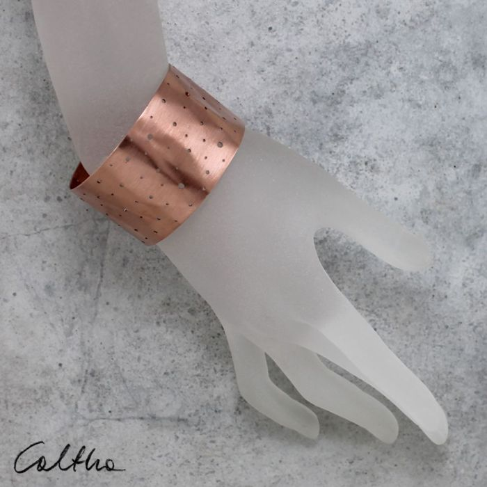 Dziurki - miedziana bransoletka 160105-02