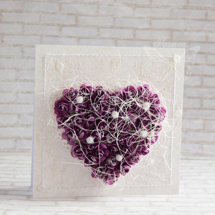 Fioletowe serce i perły