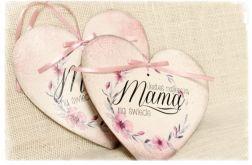 Dzień Matki, serce do zawieszenia, szyld