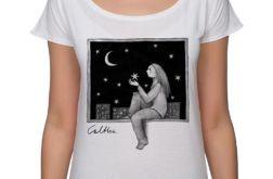Okno - koszulka oversize - biała