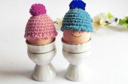2 czapeczki na jajka