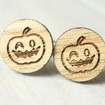 Drewniane spinki do mankietów HALLOWEEN
