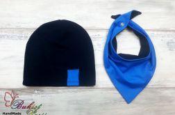 Komplet czapka i trójkąt dla chłopca