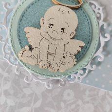 Kartka na Chrzest Aniołke chłopiec