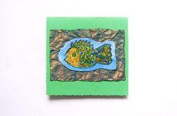 Zielona kartka z rybką