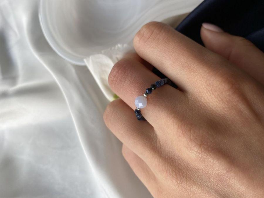 Pierścionek Szafir & Agat Blue Lace
