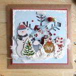 Kartka świąteczna BAŁWAN SHAKER #2 - Z góry