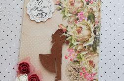 Kartka 50 rocznica ślubu + koperta 2